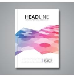 Hexagonal bacgkeound business flyer brochure vector image