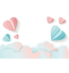 horizontal love card for valentine s day with free vector image