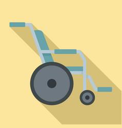 Hospital wheelchair icon flat style vector