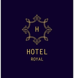Hotel royal logo vector image