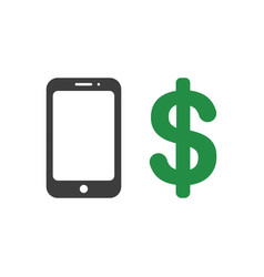 icon concept of smartphone with dollar vector image