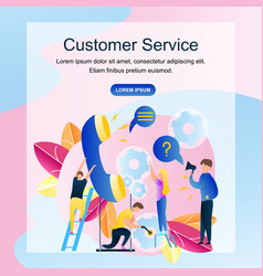 Image group people customer service online store vector