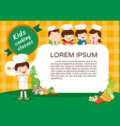 Kids cooking class certificate 4 vector
