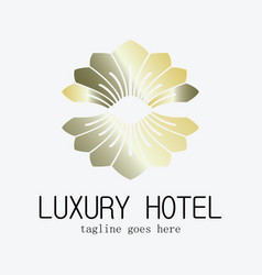 Luxury hotel logo vector