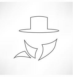 man in suit secret service agent icon vector image