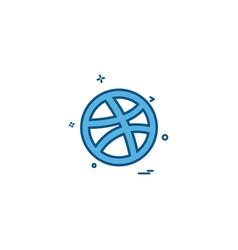 Media network social dribbble icon designn vector
