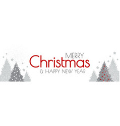 merry christmas and happy new year elegant white vector image