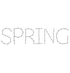 Modern spring word on white background vector