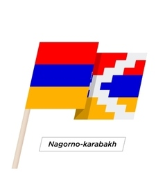 Nagorno-karabakh Sharp Ribbon Waving Flag Isolated vector