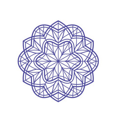 outlined mandala for coloring vector image