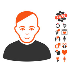 Patient icon with dating bonus vector