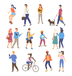 people activity outdoor walking friends vector image