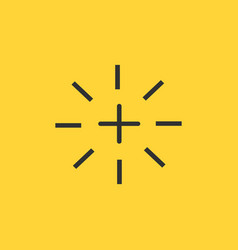 plus or cross flash icon isolated on yellow vector image
