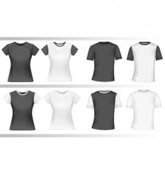 polo shirts vector image