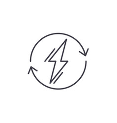 power usage line icon concept power usage vector image