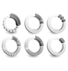 Preloader or buffer shapes circular elements vector