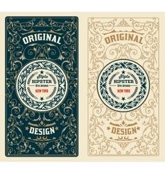 Retro Design with Floral Ornaments vector
