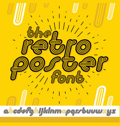 retro lowercase english alphabet letters vector image