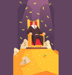 Rich man cartoon composition vector