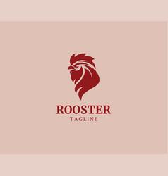 Rooster logo head logo animal logo vector