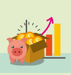 saving money business vector image