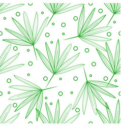 seamless pattern of tropical leaves on a light vector image