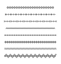 Set dividers isolated on white background vector