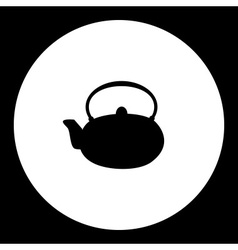Simple teapot china porcelain silhouette icon vector