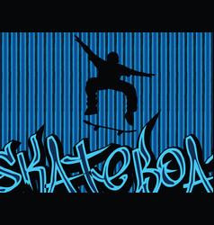 Skataboarding background blue vector