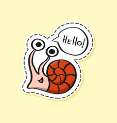Snail sticker funny emoji icon elements vector