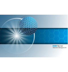sphere with hexagons 4 vector image