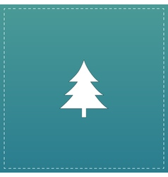 Spruce christmas tree icon vector image