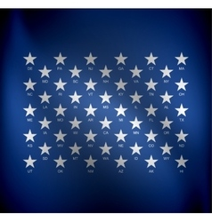 stars for states vector image