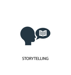 Storytelling icon simple element vector