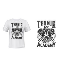 tennis academy t-shirt print mockup vector image