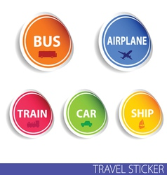 Travel sticker color vector