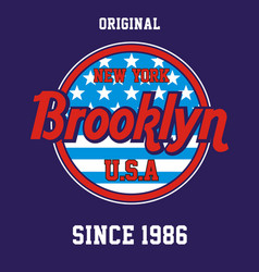 varsity new york city brooklyn vector image
