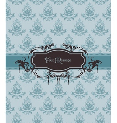 vintage ornamental card vector image