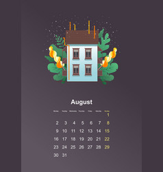 Wall calendar page 2021 one month vector