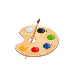 Watercolor palette artist painting brush vector