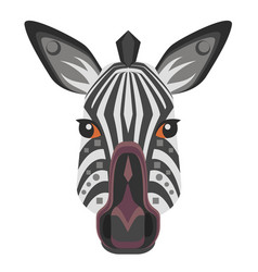 zebra head logo decorative emblem vector image