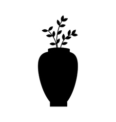 flower pot floral decoration icon graphic vector image vector image