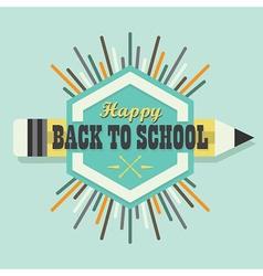 Happy Back To School colorful sun burst icon vector image