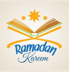 ramadan kareem islamic koran vector image vector image