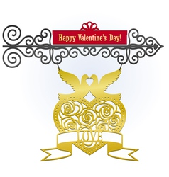 valentines day sign vector image