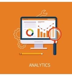 Analytics Concept Art vector image