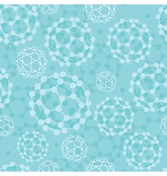 Buckyballs seamless pattern background vector image