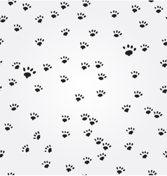 Cat Paw Prints seamless background vector image vector image