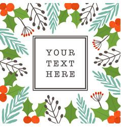 christmas card template seasonal decoration vector image vector image