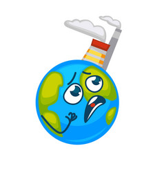 earth that suffers beacause of factories placed on vector image vector image